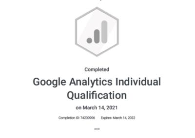 GAIQ Certification 2021