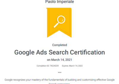 Googe Ads Search Ceritfication 2021